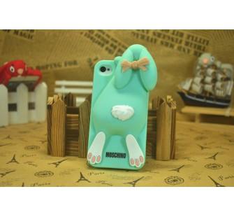 Чехол для iPhone 5/5s  Кролик Moschino Violetta Rabbit Голубой