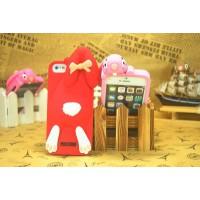 Чехол для iPhone 5/5s  Кролик Moschino Violetta Rabbit Красный