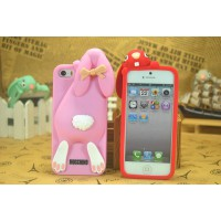 Чехол для iPhone 5/5s  Кролик Moschino Violetta Rabbit Фиолетовый