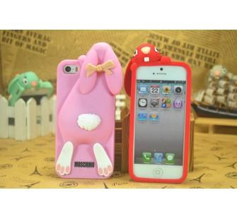Чехол для iPhone 5/5s  Кролик Moschino Violetta Rabbit Фиолетовый