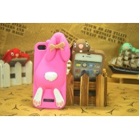 Чехол для iPhone 5/5s  Кролик Moschino Violetta Rabbit Розовый