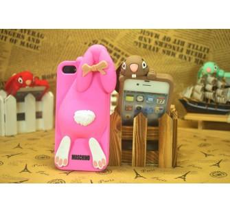Чехол для iPhone 5/5s  Кролик Moschino Violetta Rabbit Розовый
