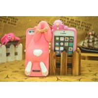 Чехол для iPhone 5/5s  Кролик Moschino Violetta Rabbit Розовый бледный