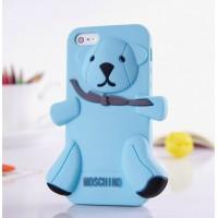 Чехол для iPhone 5 Медведь Moschino Bear Голубой