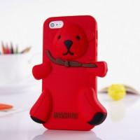 Чехол для iPhone 5 Медведь Moschino Bear Красный