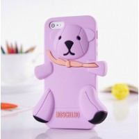 Чехол для iPhone 5 Медведь Moschino Bear Фиолетовый