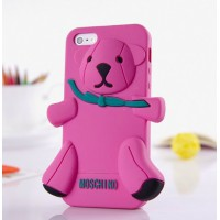 Чехол для iPhone 5 Медведь Moschino Bear Розовый