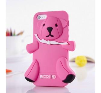 Чехол для iPhone 5 Медведь Moschino Bear Розовый бледный